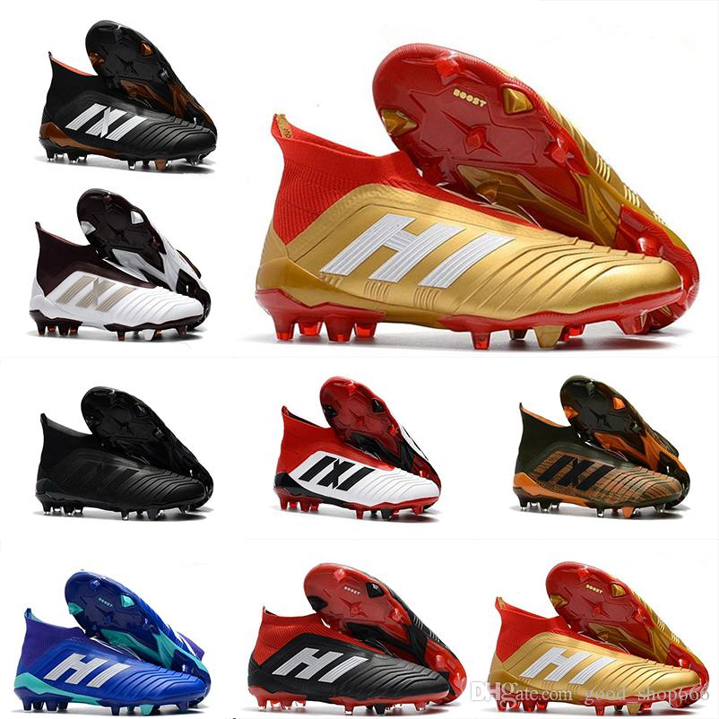 5188dc403 2019 Cheap New Hot Predator 18+ 18.1 FG Soccer Cleats Chaussures De  Football Boots Mens High Top Soccer Shoes Predator 18 Comfortable Sneakers  From ...