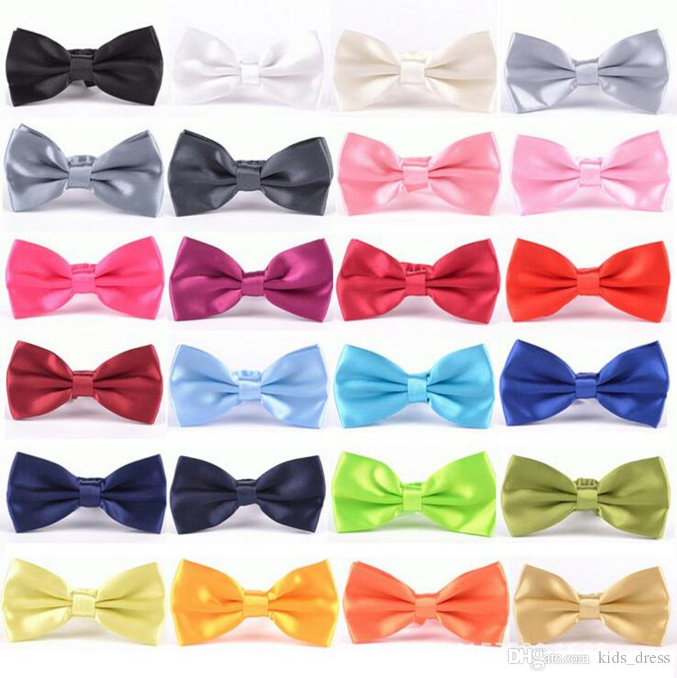 Uomini Solid Bow Ties Gentleman Butterfly Wedding Party Bowtie Papillon Regolabile Affari Legami 35 colori OOA4318