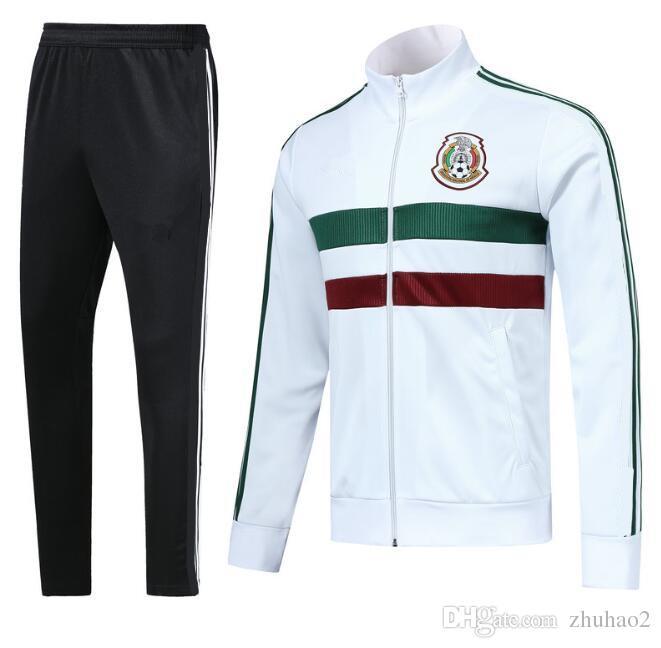 e9d32bbcf9522 Compre 2018 Copa Do Mundo México Jaqueta De Futebol México Agasalho 18 2019  Branco CHICHARITO Seleção Nacional Jaqueta De Futebol Formação Top Jaqueta  De ...