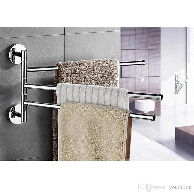 2019 Bathroom Towel Racks Hanger Holder Storage Organizer For Bathroom Space Saving Wall Mount 3 Arm Stainless Steel Wall Mount From Youthlion ...  sc 1 st  DHgate.com & 2019 Bathroom Towel Racks Hanger Holder Storage Organizer For ...