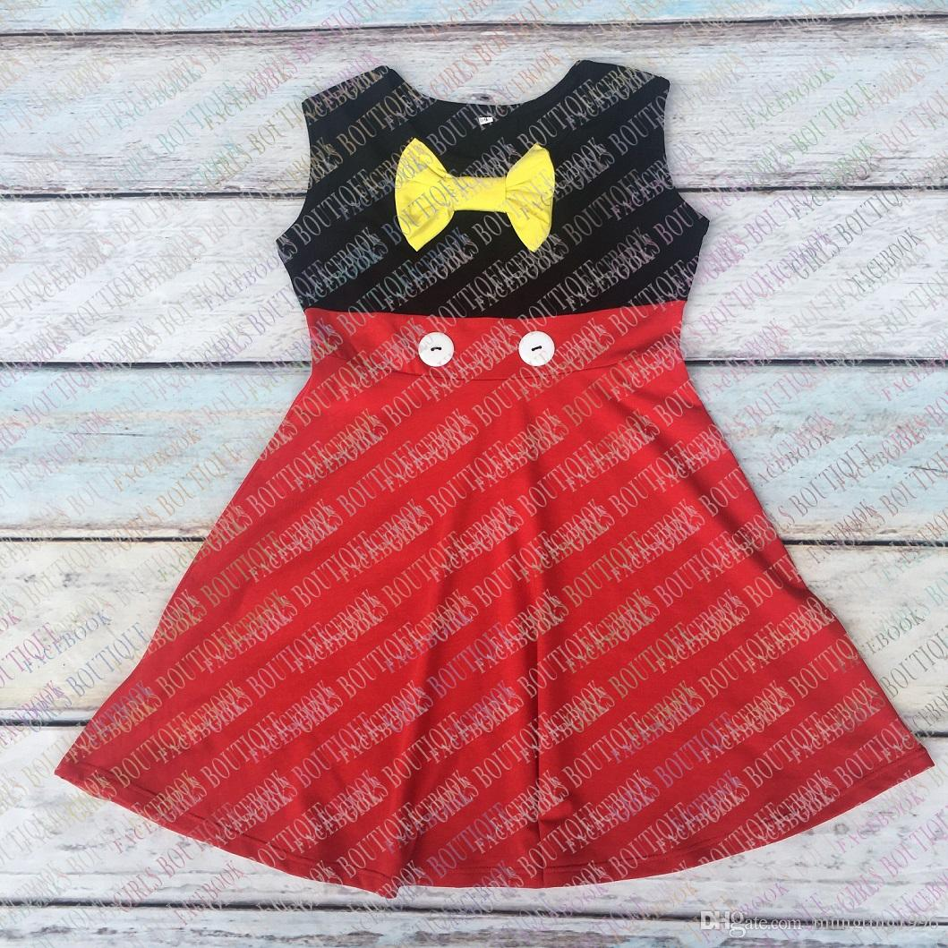 46bfee060768e Wholesale baby girls mickey princess dresses costume princess dress kids  birthday dress toddler cotton ruffle boutique dresses