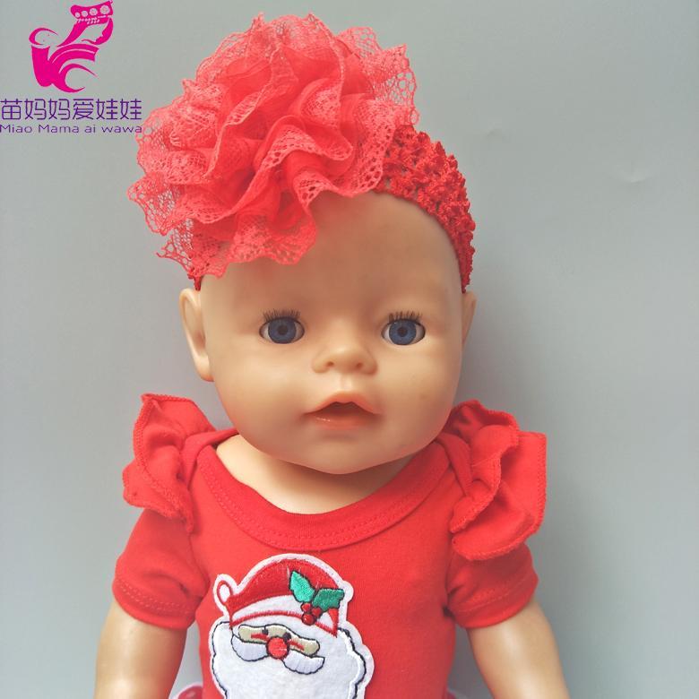 Acheter 43cm Poupee Zapf Bandeau Fleur Rouge Pour Bande De Cheveux