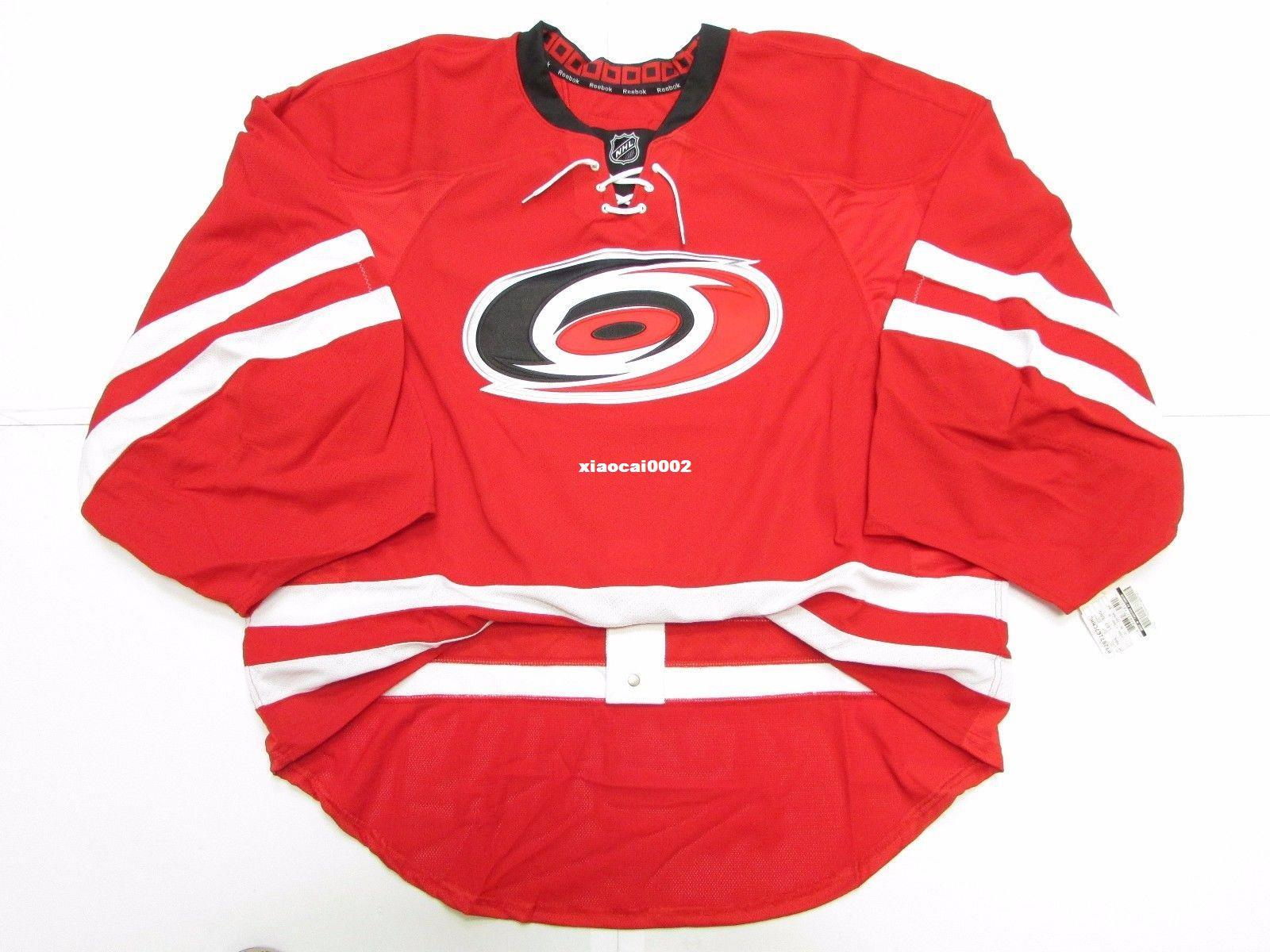 newest 6ebe7 5a6a9 Cheap Custom CAROLINA HURRICANES AUTHENTIC HOME EDGE JERSEY GOALIE CUT 60  Mens Stitched Personalized hockey Jerseys