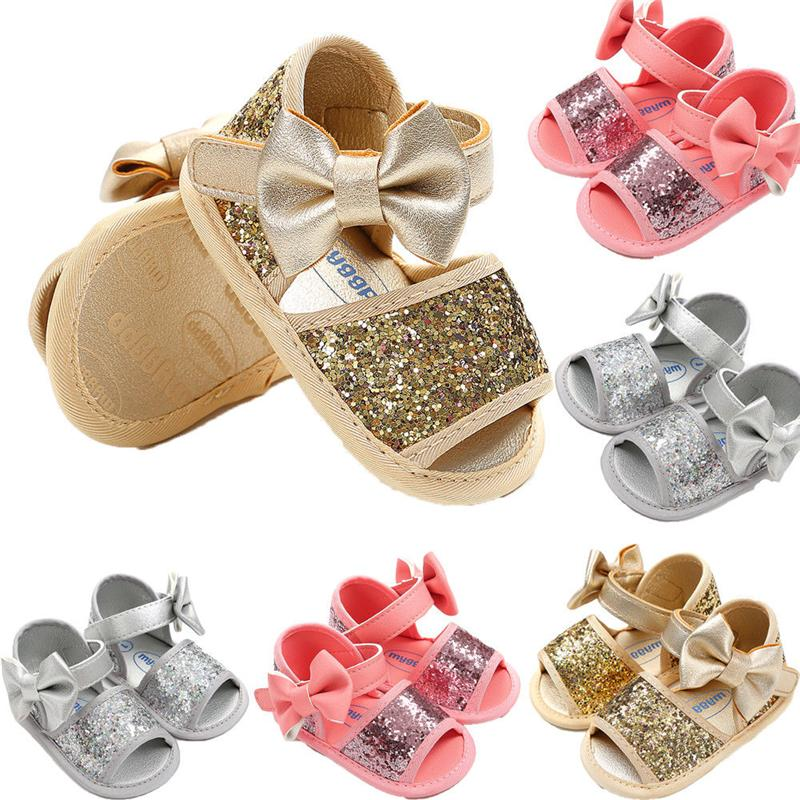 Sweet Baby Kids Girl Sequins Sandals New Summer Children Breathable Leather  Shoes Bowknot Cute Fashion Newborn Girl Shoes 0 18M Buy Toddler Shoes Shoes  For ... ba9c4fb25a9b