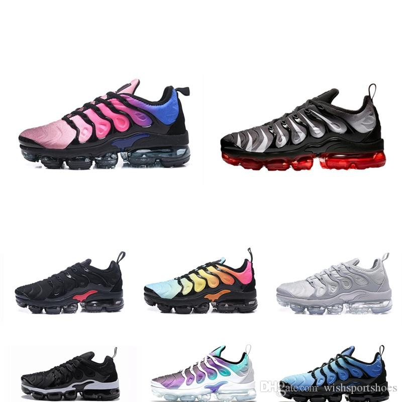 1ea6c9ee77f1 2018 New Running Shoes Men TN Shoes Tns Plus Air Fashion Increased  Ventilation Casual Trainers Olive Red Blue Black Sneakers Chausseures Best  Trail Running ...