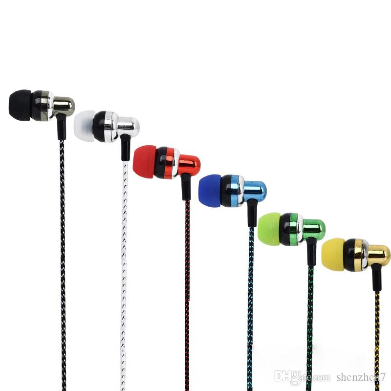 Nuevo auricular de la llegada universal 3.5mm en los auriculares de Earbuds Auriculares de la galjanoplastia del galjanoplastia de la galjanoplastia de la oreja con el mic para Samsung HTC EAR293 del iPhone