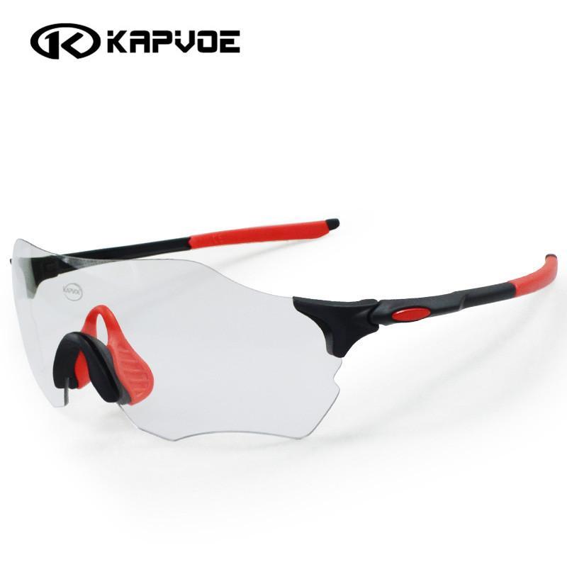 dd881adf6f Kapvoe Gafas Fotocromáticas Ciclismo Hombres Mujeres Deportes MTB Mountain  Road Bicicleta Ciclismo Gafas De Sol Gafas EV Evzero UV400 Por Yvonna, ...