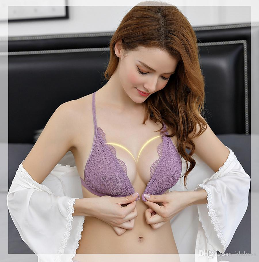 52313dabff Wholesale New 2018 Luxury Elegant V Bra And Panty Set Y Line Underwear Set  Female Sexy Lace Brand Push Up Secret Women Bra Set UK 2019 From Hhdress