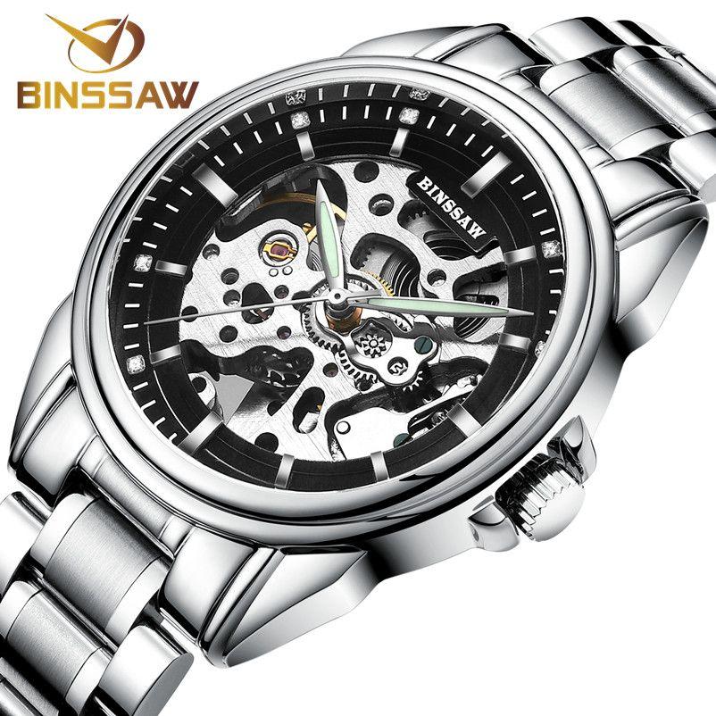 e84a6326b6b1 Compre Hombres BINSSAW 2017 Original De Lujo Superior Nuevo Reloj  Contratado Moda Cuero Automático Mecánico Hueco Reloj De Negocios A  314.73  Del A799956998 ...