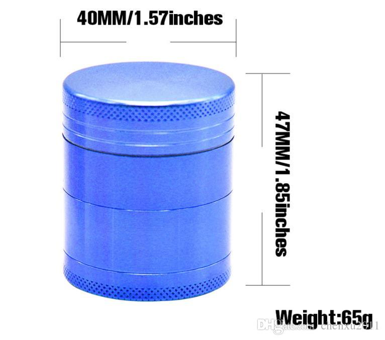 40mm4 layer aluminum alloy smoke grinder four layer aluminum CNC gear grinding cigarette case Smoke cutter