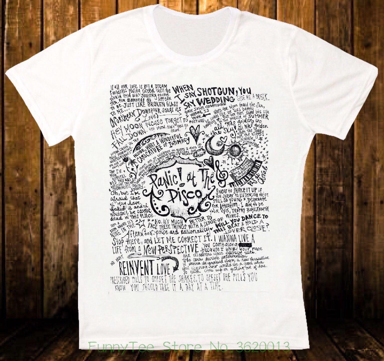a4b51726bc99 Panic At The Disco Fascia Testo Cool Retro Vintage Hipster Unisex T Shirt  1072 T Shirt Shirts Shirts And Tshirts From Funnyteestore, $24.2| DHgate.Com