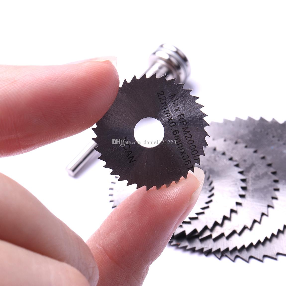 1/8 inch Shank High Speed Steel Mini Circular Saw Blades with Mandrels for Rotary Tool