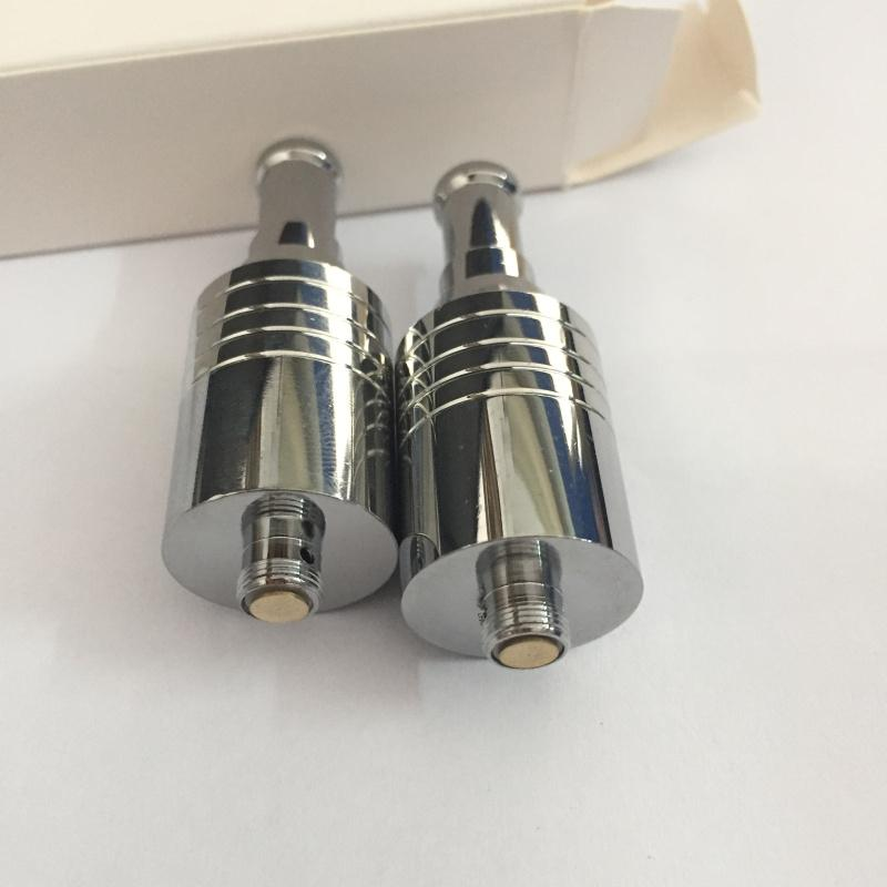 Best quality wax Atomizer E cigs SS dry herb vapor with dual ceramic rod coil rebuildable atomizer Glass globe vaporizer pen