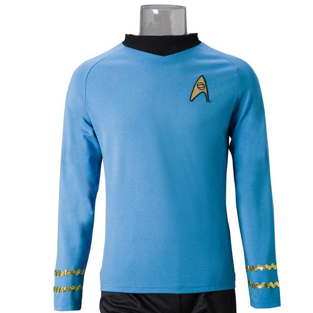 4dd88986066 Star Trek костюм  оригинальная серия косплей Спок науки косплей рубашка  Хэллоуин и Рождество косплей костюмы