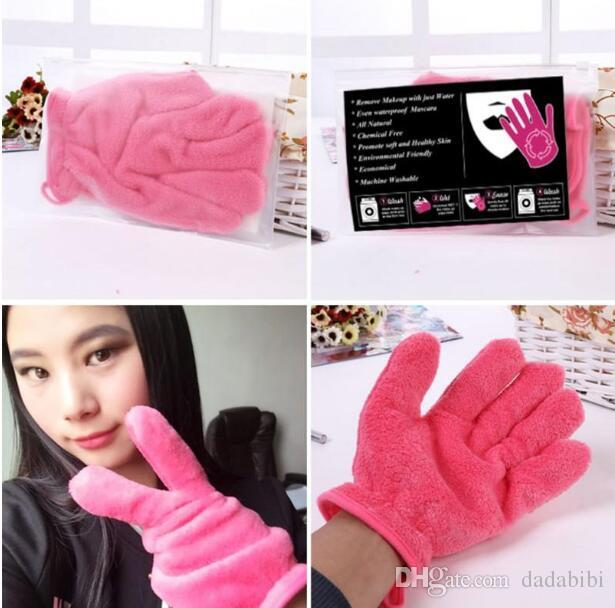 NEW ARRIVAL Microfiber MakeUp Removal Facial Cloth Gloves Towel Beauty Skin face Washcloth New