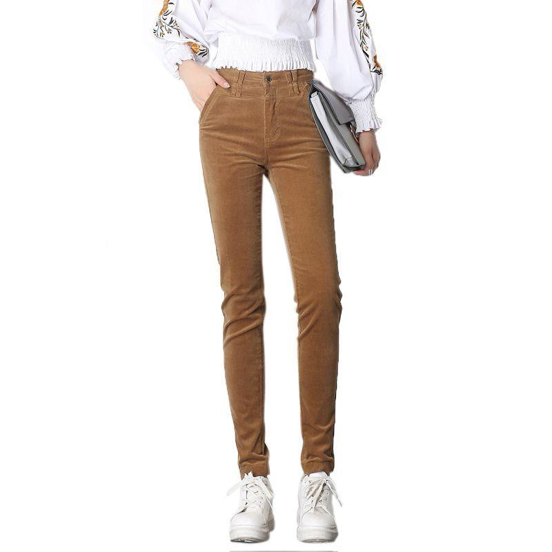 442d0555ed61 # 1934 Осень зима Утолщенные брюки Вельветовые женские брюки Skinny Plus  размер feminino ...