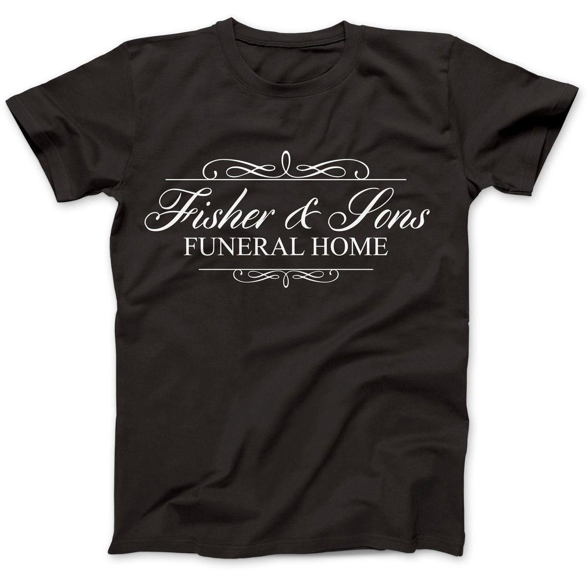 fc8933f976b Acheter Fisher And Sons Inspiré Par Six Pieds Sous Le T Shirt 100% Coton De  Première Qualité Funny T Shirt Hommes Cool Casual T Shirt En Coton De  27.6  Du ...