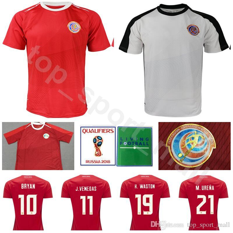 2018 World Cup Costa Rica Soccer Jersey Men 21 URENA 19 WASTON 7 BOLANOS 13  WALLACE GAMBOA Football Shirt Kits National Custom Name Number UK 2019 From  ... 3eac12930