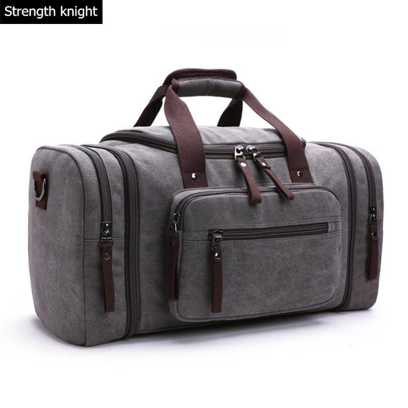 38bca41764fb 2018 Men s Vintage Travel Bags Large Capacity Canvas Tote Portable Luggage  Daily Handbag Bolsa Multifunction Luggage Duffle Bag Sports Bags Weekend  Bags ...
