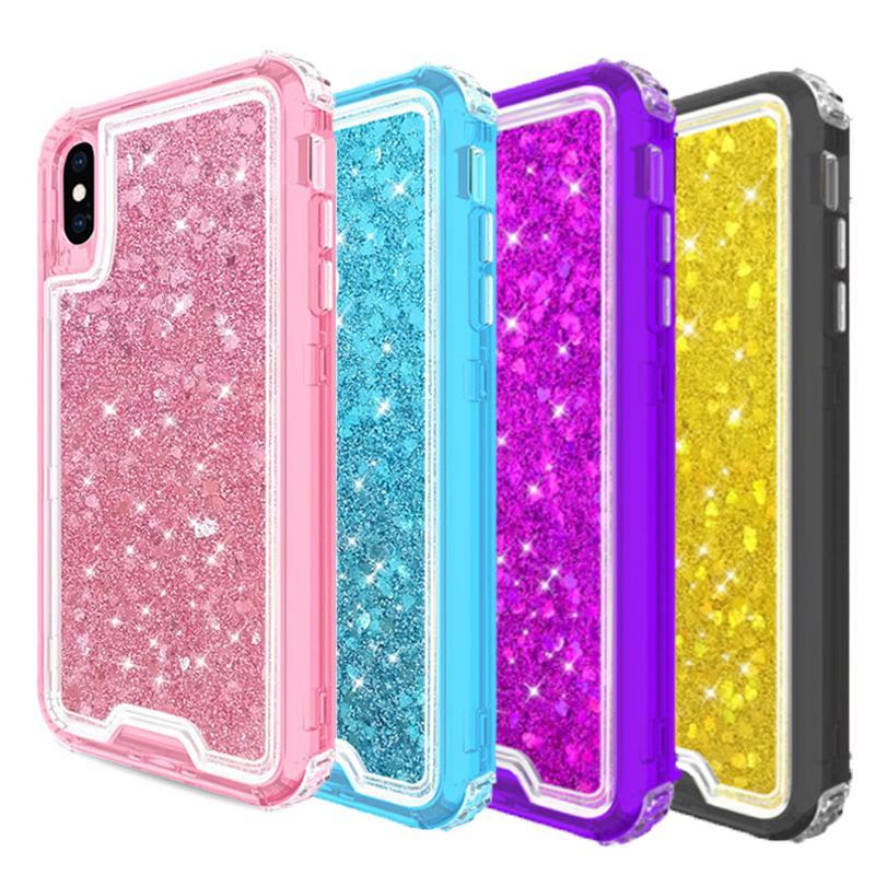iphone xr heavy duty glitter case
