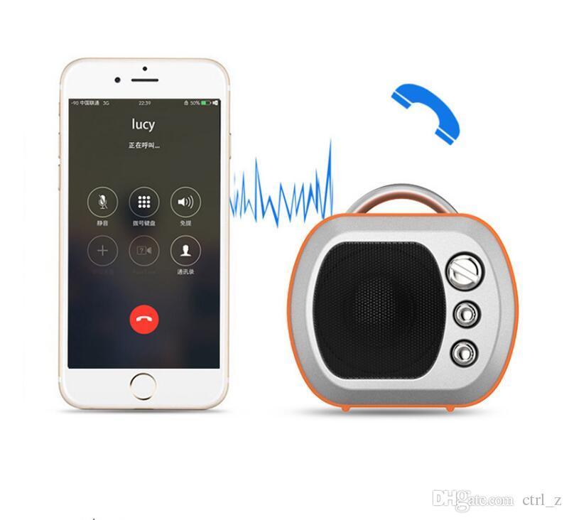 Mini Lautsprecher Fernsehen Modell Bluetooth Lautsprecher Radio FM Boombox Tragbare Retro TV Soundbar Musikverstärker Für iPhone 8 7 X 6 S