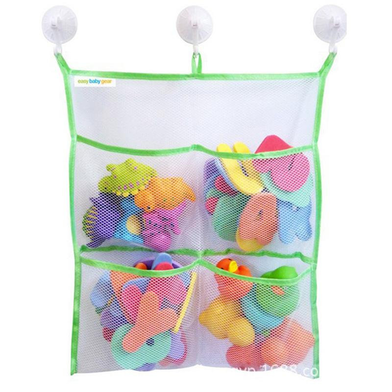 2018 Baby Practical Bath Toys Tidy Storage Suction Cup Bag Baby ...
