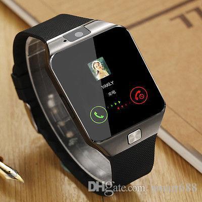 ed964fe6068 Compre Original Dz09 Smartwatch Relógio Homens Andriod Relógio De Pulso  Telefone Celular Suporte Sim Card Para Bluetooth Conectar Iphone Pk A1 Q18  De ...