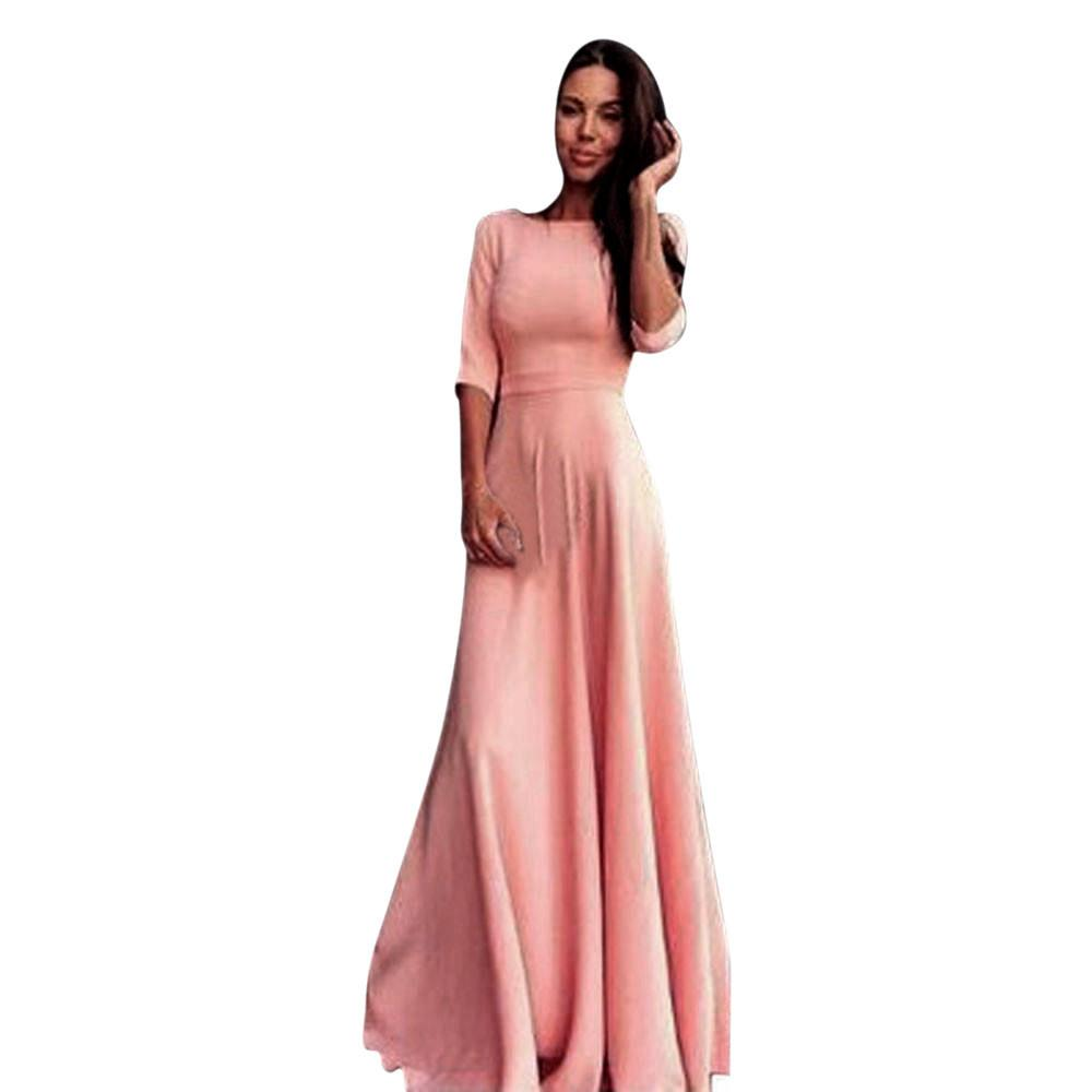 2018 2018 Pink Summer Womens Formal Dress Bridesmaid Party Ball Gown ...