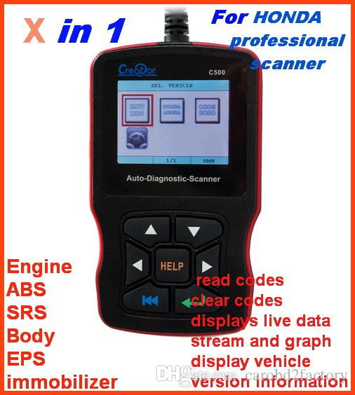 2018 Professional for HONDA/ACURA code reader scanner diagnostic tools ABS  SRS EPS engine multi-system replace H685 with DHL free Shipping
