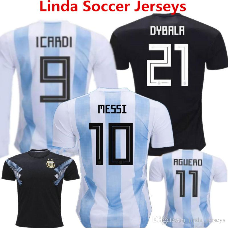 Soccer Jersey Argentina World Cup 2018 Football Shirts LEO Messi ... afde6073f