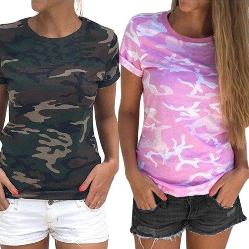 9e15ac7f24608e 2017 Summer T Shirt Women Casual Camo Short Sleeve Tops Tee Shirt Ladies Loose  T Shirt LM75 Designer White Tee Shirts Cool T Shirts Buy Online From  Xiatian4 ...