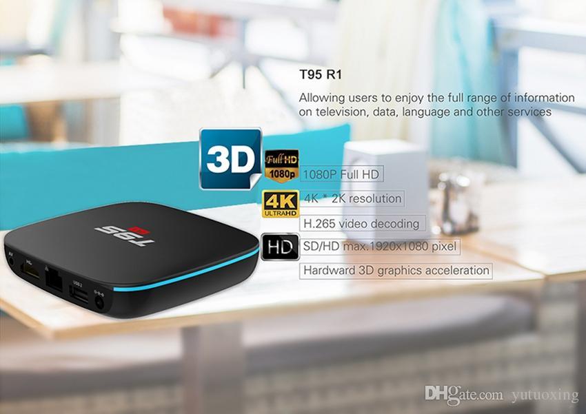 T95 R1 Android tv boxes Amlogic S905W Quad Core 1GB 8GB 17.6 Media Player IPTV Smart Box Better MXQ PRO X96 mini