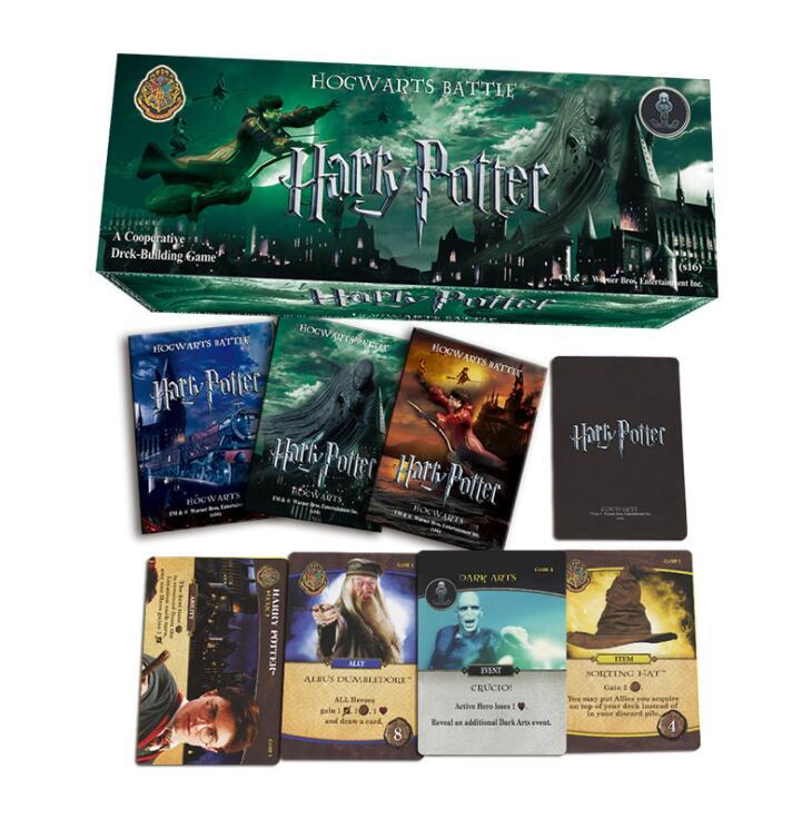 408 PCS/SET Harry Potter English Cards Game Funny Board Game English Edition Collection Cards For Children Gift toys KKA4992