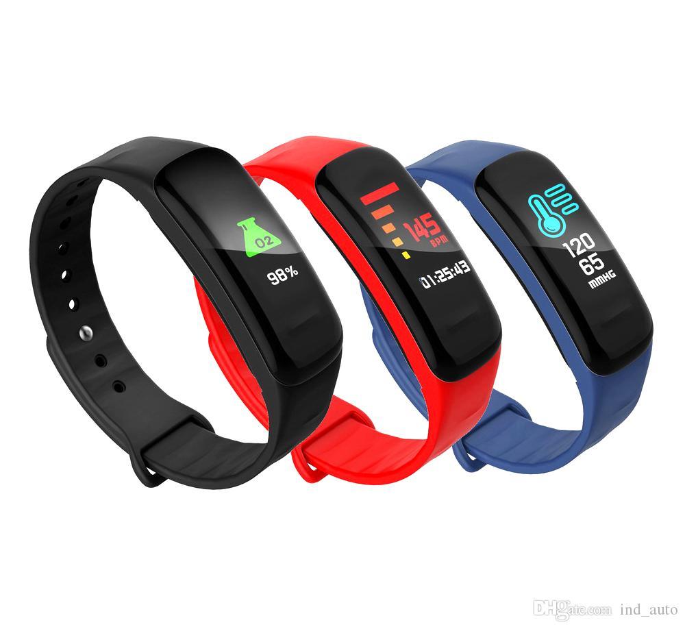 46add1182e3 Compre F602 Inteligente Pulseira De Fitness Rastreador Pulseira Pulseira  Relógio Mensagem Passo Pressão Arterial Monitor De Freqüência Cardíaca Do  Dormir ...