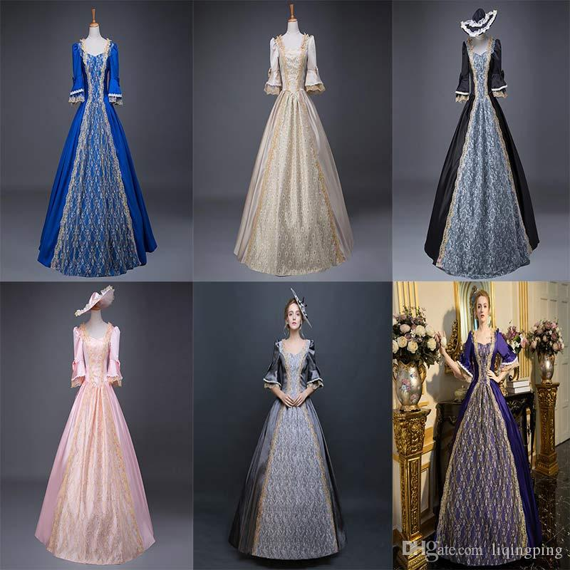 21ed35e742d 2019 Customized 2018 Fashion Multicolour Vintage Southern Belle Dress Civil  War Marie Antoinette Ball Gown Birthday Party Costume Fast Delivery From ...