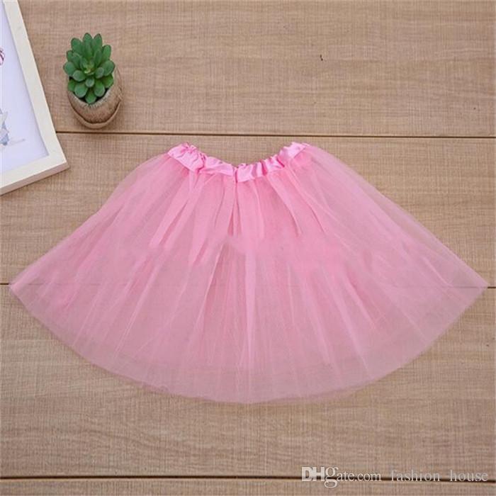 16 couleur bébé filles pas cher jupe enfants vêtements de danse jupe tutu jupe pettiskirt dancewear robe de ballet fantaisie jupes costume A08