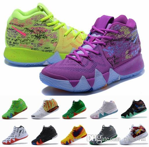 huge selection of 79134 75193 4s Kyrie IV Lucky Charms Mens Basketball Shoes Irving 4 Confetti BHM  EQUALITY All-Star March Madness City Guardians London Mamba Sneakers