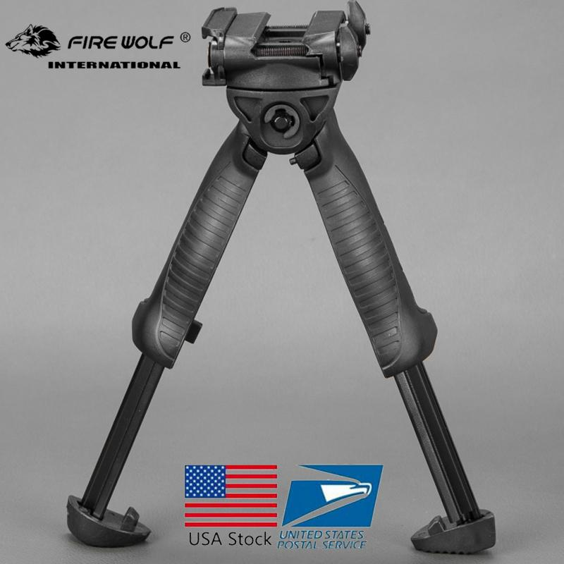 2018 New MAKO FAB Defense T-POD G2 Vertical Foregrip w/Incorported Swivel Bipod Black for hunting