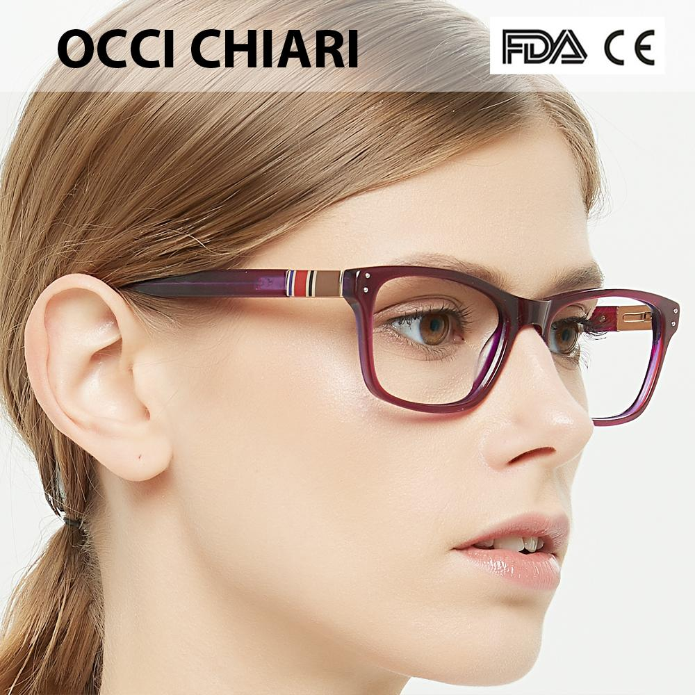 2c1f2797ec20 2019 OCCI CHIARI Spectacle Women Frames Spring Hinge Eye Glasses ...