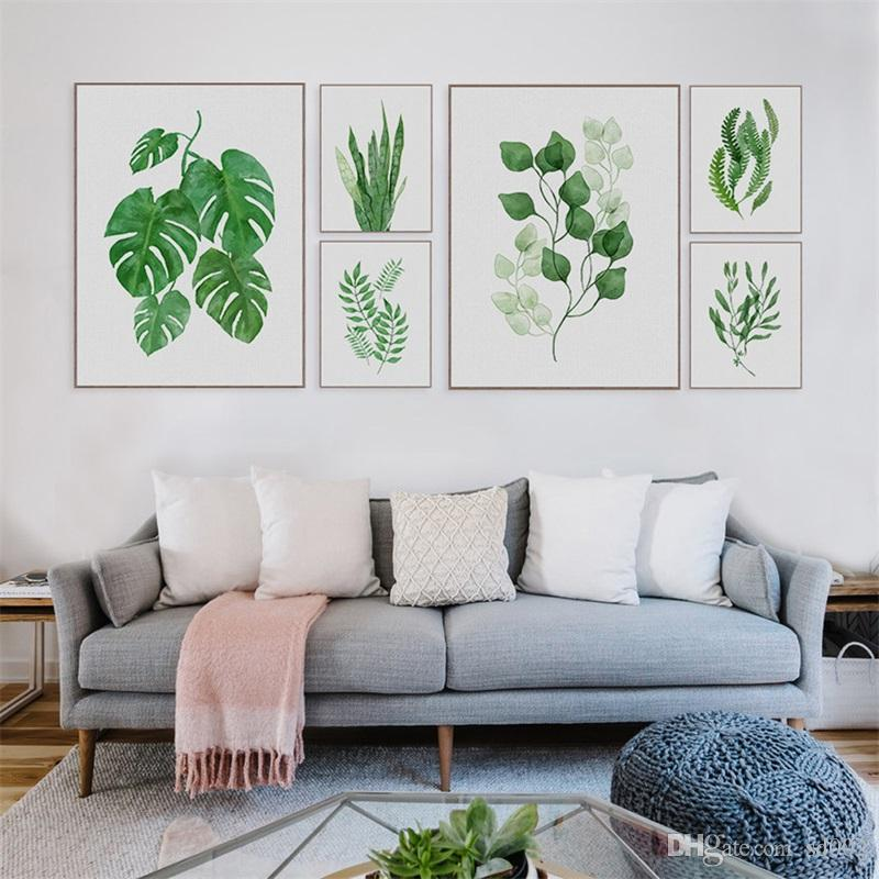 Creative Oil Painting Nordic Style Frameless Watercolor Hanging Scroll Paintings Green Plants Home Decor Many Styles 17 5hg4 CW
