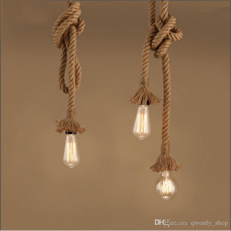 Compre Retro Lámparas Cuerda Colgantes Cabeza E27 Loft Lámpara 0wOmN8nv