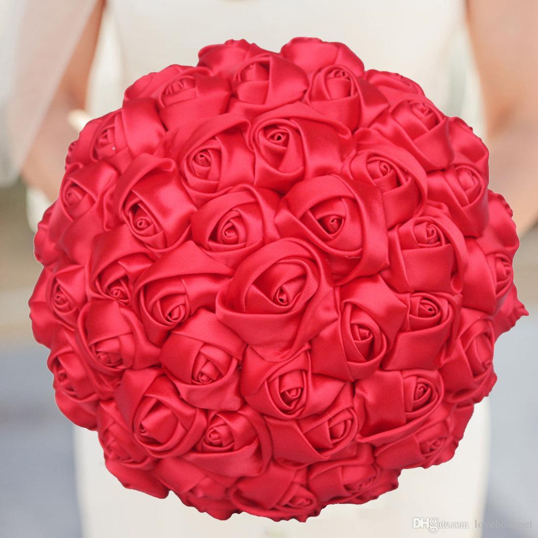 Compre 18 Cm Boda Flores Sencillas Ramos De Novia De Seda De Flores