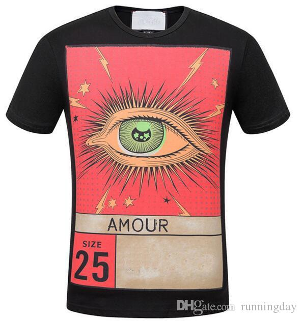 2fff036d5620b Leading Amour Eye Lighting Star Print Men T Shirts Casual T Shirt Cotton O  Neck Summer Women Sport Tshirt 3XL White Black T Shirts Buy Shirt T From ...