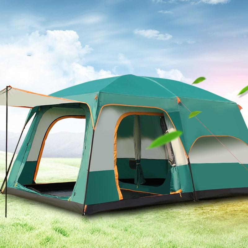 b32610a97 Compre Ao Ar Livre 6 7 8 9 10 12 Pessoas Camping 4 Temporada Tenda Outing  Dois Quartos Tenda Grande Espaço De Alta Qualidade Barraca De Acampamento  De ...