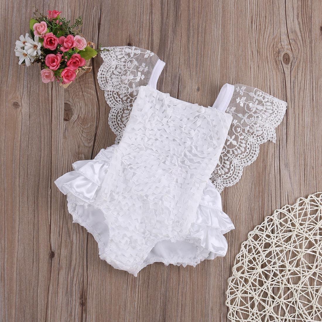 92ea249983ff9f 2019 Baby Girl Clothes Lace Floral Bodysuit Sunsuit Outfits Lovely White  Lace Baby Bodysuits 0 18 Months For Birthday Party Bodysuits From  Kangsanzuo888, ...