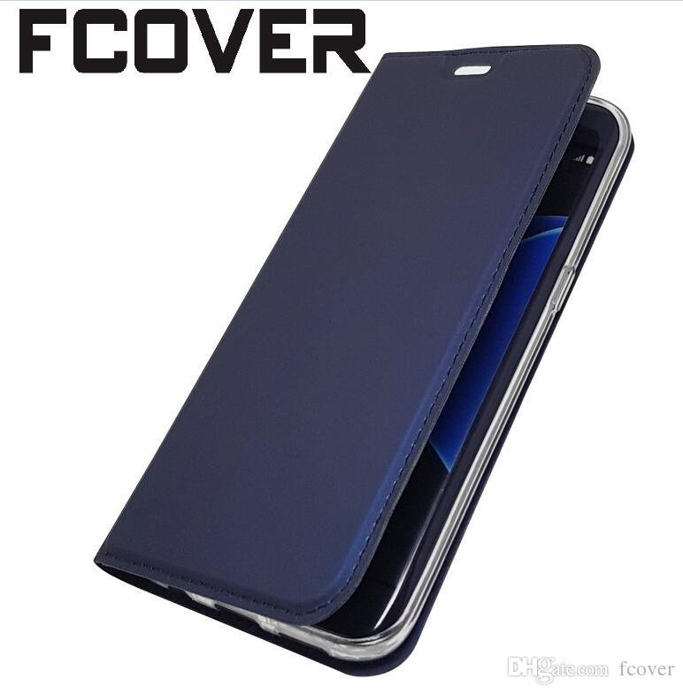new products 206b1 d5c75 For Samsung Galaxy A6 Plus 2018 A7 A9 2018 A10 A30 A50 M30 Flip Case  Magnetic Book Card Protective Kickstand Shell Wallet PU Leather Cover