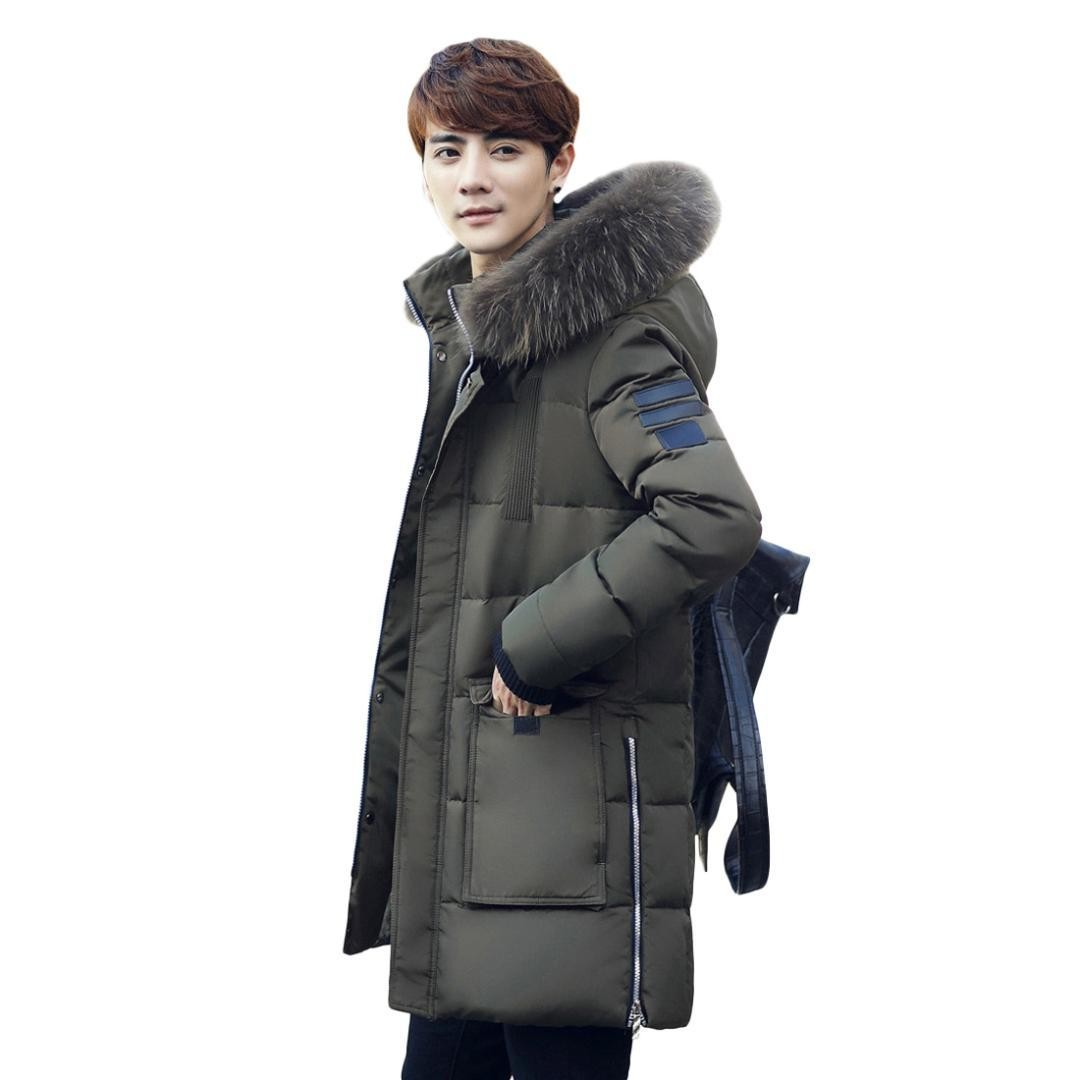 ea465907b64 2019 Men S Casual Down Jacket Puffer Coat Cotton Padded Jacket Collar  Waistcoat Outwear X Long Hood Winter Warm Clothes Parkas Cotton From  Hermanw