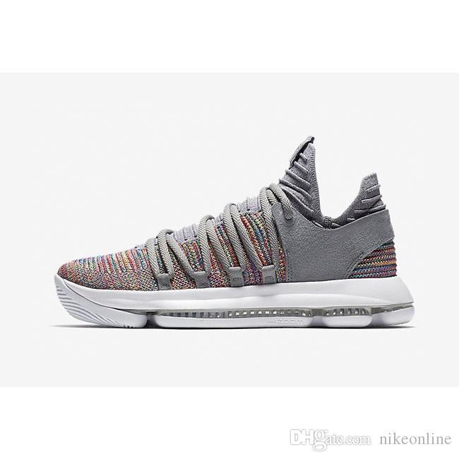 2018 Cheap New Mens KD X 10 Low Cut Top Basketball Shoes 2018 Multi ...