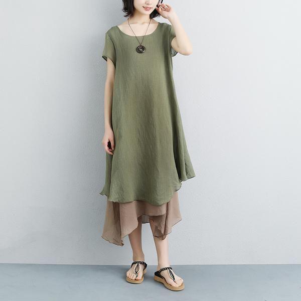 e8711009d41 Cheap European Style Fashion Dress for Women Best Apple Green Casual Dress