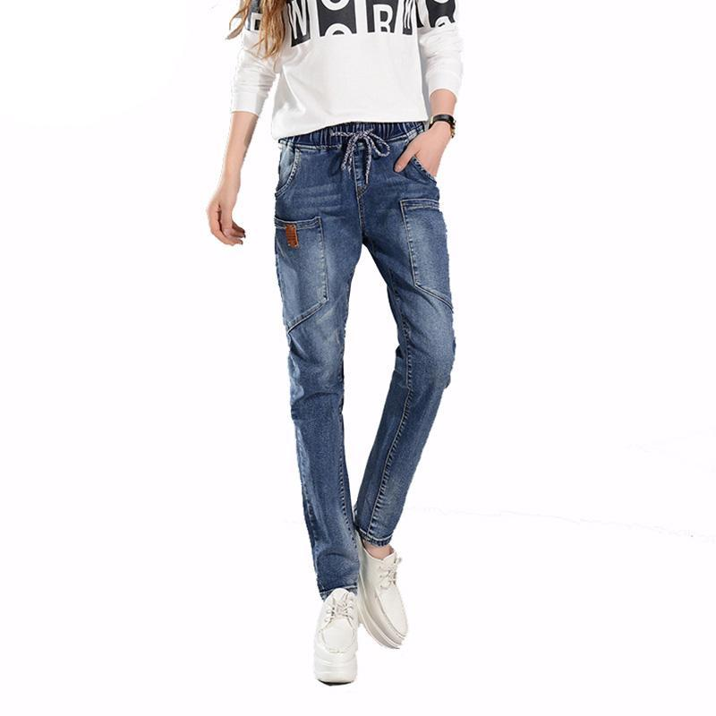 748ffdd4a80 2019 Winter Hot Jeans Women Harem Pants Fashion Trousers Long Vintage  Pocket Plus Size Boyfriend Jeans Female Denim Pants From Lfshoes